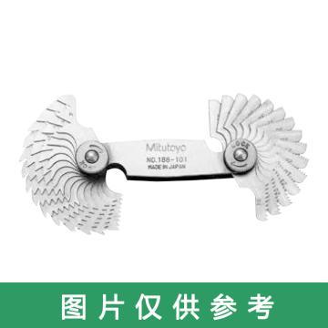 三丰 惠氏螺距规,(4-60TPI)28片,188-102