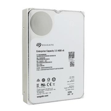 希捷企业级硬盘,ST10000NM0096 10TB 256MB 7200RPM SAS接口 希捷银河Exos X10系列