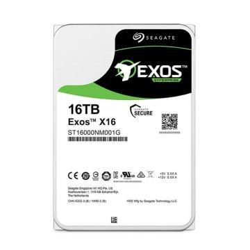 希捷企业级硬盘,ST16000NM001G 16TB 256MB 7200RPM SATA接口 希捷银河Exos X16系列