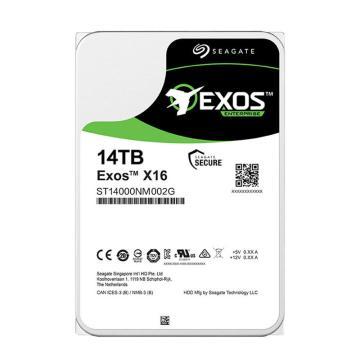 希捷企业级硬盘,ST14000NM002G 14TB 256MB 7200RPM SAS接口 希捷银河Exos X16系列 安全可靠