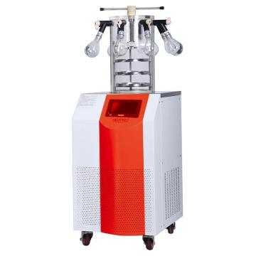 永合创信 实验室立式冻干机,冻干面积0.09㎡,CTFD-12PT多歧管压盖型
