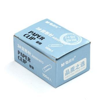 晨光 M&G 3#纸盒装回形针,ABS91613 28mm 100枚/盒 单位:盒