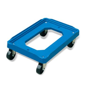Raxwell 150Kg塑料周转箱万向移动车,适用外形尺寸小于600*400mm并大于300*300mm周转箱,RMCT0003