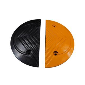 锦安行 橡胶减速带端头,黄黑各一,350×40mm,JCH-R350-T