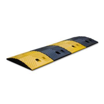 锦安行 橡胶减速带,1000*350*40mm,黄黑,人字形花纹,JCH-R350