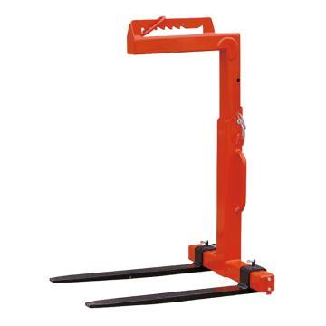 Raxwell 5吨手动平衡吊叉(高度可调),有效可调高度h=1300-2000mm货叉可调宽度530-1000mm,RMFC0004