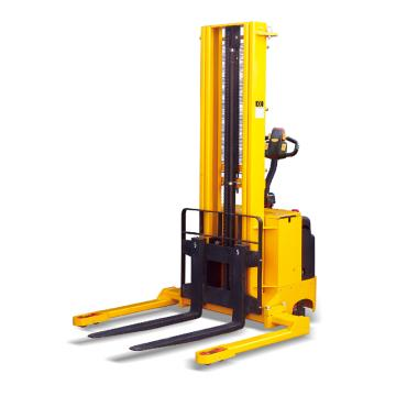 Raxwell 1500Kg宽支腿全电动堆高车,支腿内宽1270mm 锻造可调货叉(230-790,RMCE0010