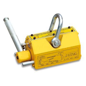 Raxwell 永磁吸盘(磁力吊),600Kg(平面)/240Kg(圆面)吸面220*115mm 手把长度230mm,RMJL0010