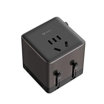 公牛BULL 旅行插座转换器 欧标美标澳标英标适用 一位五孔+2USB,GN-L08U(S)彩盒装多国转换器(3529)