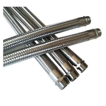 莫龙机械304不锈钢金属软管,DN15 L=600,1.6Mpa,软管两端为外丝(BSPP)英制直管螺纹连接