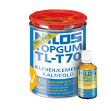 尼罗斯 冷粘胶,TL-T70,粘接剂1000g / 罐+固化剂 70g / 瓶