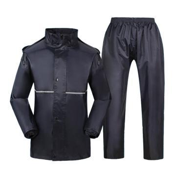 燕王 分体防汛双层夜光分体雨衣套装,深藏青 , 613双-3XL