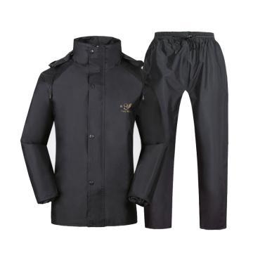 燕王 加厚反光桃皮绒雨衣套装 , 深藏青 , 668-4XL