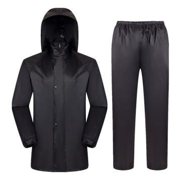 燕王 男女骑行双层加厚反光分体雨衣套装,深藏青,619-2XL