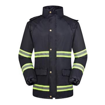 燕王 环保反光条分体雨衣套装,藏青色,男女款,9222-4XL
