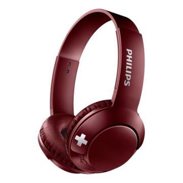 飞利浦(Philips) 头戴式蓝牙耳机 SHB3075RD 酒红色
