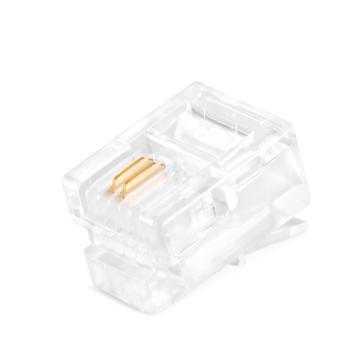 包尔星克Powersync RJ11 6P2C电话水晶头,ACPTA62NPA,50个/包