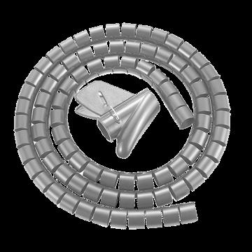 包尔星克Powersync 缠绕管保护套电线理线器(银色)带理线夹 25mm*1.5m,ACLWAGW125S