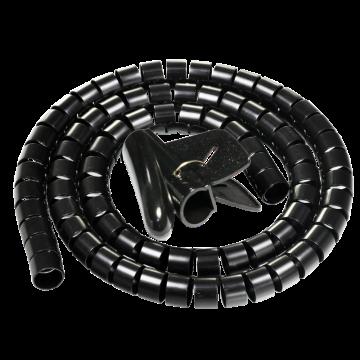 包尔星克Powersync 缠绕管保护套电线理线器(黑色)带理线夹 25mm*1.5m,ACLWAGW1250