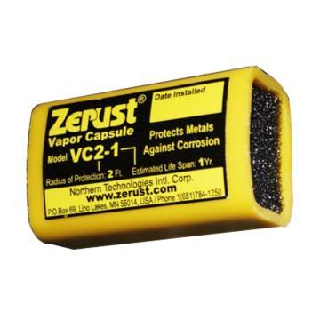 Zerust 气相防锈胶囊VC 2-1,防护容积1m3,防护半径0.6m,防护周期1年,25个/箱,带背胶