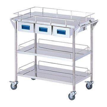 亚速旺 实验室仪器设备配套移动车,不锈钢(SUS304,高洁净度),CHW-3H,C8-7466-04