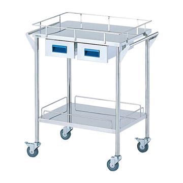 亚速旺 实验室仪器设备配套移动车,不锈钢(SUS304,高洁净度),CHS-2H,C8-7466-01