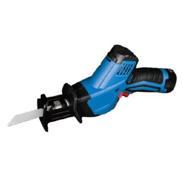 充电式马刀锯,冲程14.5mm,切割能力金属8mm/木材65mm/管直径50mm,12V 2.0Ah电池 两电一充,DCJF15E型