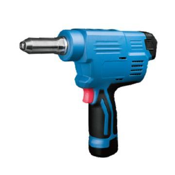 东成充电式抽芯铆钉枪,冲程20mm,φ2.4-φ5.0全材质,12V 2.0Ah电池 两电一充,DCPM50E型