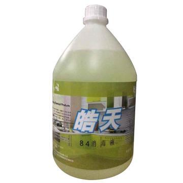 皓天84消毒液,1加仑/桶 4桶/箱 单位:箱