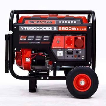 伊藤动力 汽油发电机,5kW,380V,YT6500DCE3-2(替换已停产型号YT6500DCS)