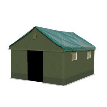 安赛瑞 工程救灾户外帐篷,保暖防雨雪,三层加厚帆布,3×4米,高2.5米