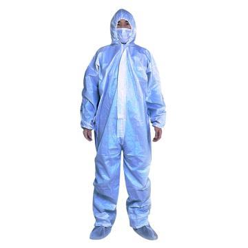 蓝装 非医用一次性隔离衣,SMS纺粘抗菌无孔透气材料,蓝色,M