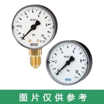 WIKA 压力表,中心轴向安装,螺纹接口规格:G1/4,充硅油,233.50.63系列