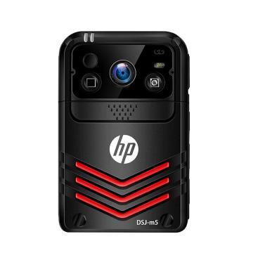 惠普执法记录仪,DSJ-M5 高清便携式4G网络WiFi无线传输GPS实时定位现场远程监控记录仪64G