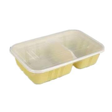 东跃一次性餐盒(两格套盒),850ml23X14.2X5.3cm 500套/箱 单位:箱