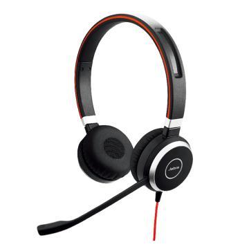 捷波朗(JABRA)EVOLVE 40 USB 双耳话务员耳机 电话客服耳麦降噪可调节音量大小 连电脑