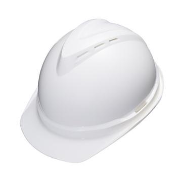 安铠迅 安全帽,GY-A3-白(同一系列30顶起订),V型带透气孔ABS安全帽 白色