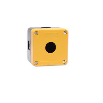德力西 按钮开关控制盒,LAY5s-HZ 1孔黄面盖(按钮盒) LAY5SHZ15