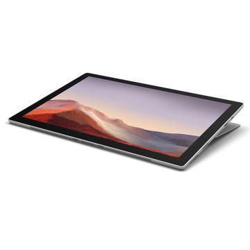 微软 surface pro 7 二合一平板电脑笔记本(I3/4G/128G/亮铂金/WIN10专业版/三年保修)