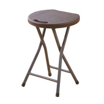 西域推荐 圆凳,黑色塑料面
