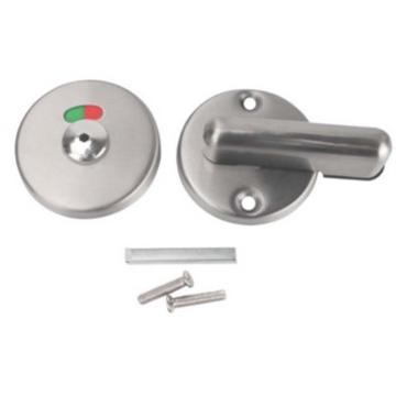 西域推荐 卫生间不锈钢有无人指示锁, B-OO9,孔距46mm,柄长80mm,锁面65mm