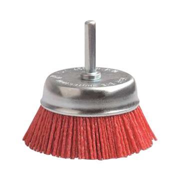 尚弘尼龙杆碗刷,直径75mm,柄径6mm,氧化铝磨料丝粒度80,丝径1.2mm,600991-9009,10只/包