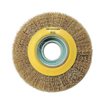 尚弘曲丝机用平型钢丝刷,直径100mm,孔径20mm,丝径0.3mm,522061-3008,10只/包