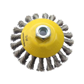 尚弘扭丝盆型刷,直径100mm,螺纹M14X2.00,丝径0.5mm,622151-2008,10只/包