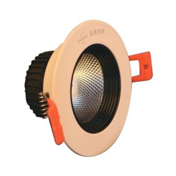 辰希照明 LED天花射灯,LCXD3608 功率5W 白光 2.5寸 开孔φ75mm 单位:套