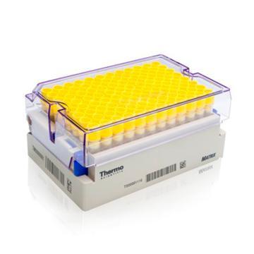 Thermo Scientific Matrix 1.0 mL 2D,聚丙烯, V 底 螺旋盖管带盖,无菌,带条形码架子,5架每箱 96 管/架