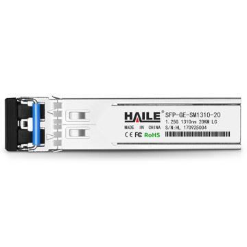 海乐Haile 千兆单模双纤光纤模块,SFP-GE-SM1310-20