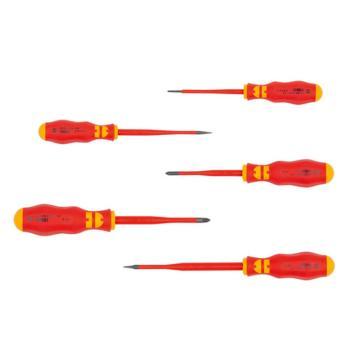 伍尔特 超细杆绝缘螺丝刀组套,5件套,0613963250