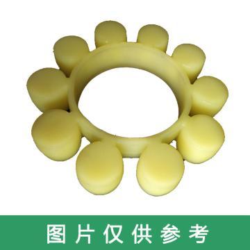 西普力 MT梅花型联轴器弹性缓冲垫,黄色,MT11
