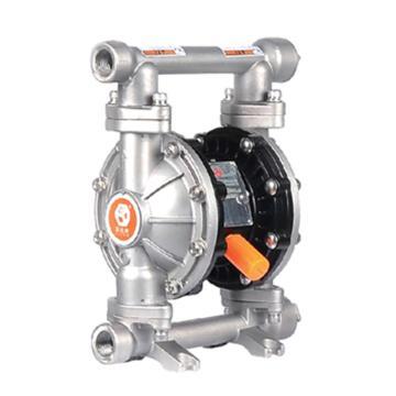 """固德牌/GODO 3/4""""不锈钢304壳体气动隔膜泵,QBY3-20PTFF"""